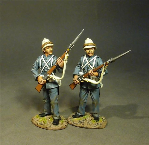 RML-06 - Two Marines Standing at Ready  Royal Marine Light Infantry