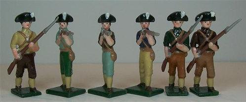 A254 - American Revolutionary Irregulars - 6 pieces
