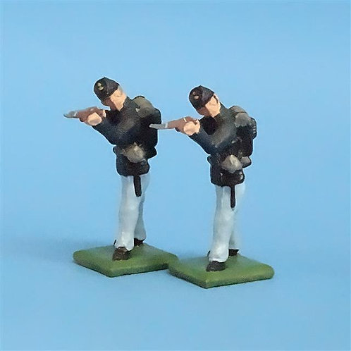 CORD-035 - Union Standing Firing (2 Figures) - Manufacturer Unknown - 54mm Metal
