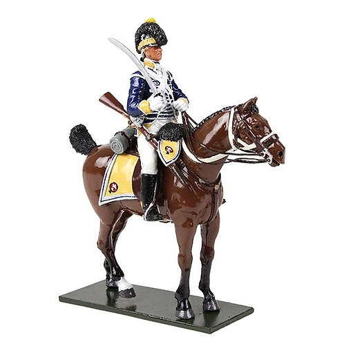 47058 - British 10th Light Dragoons Trooper Mounted No.1, 1795