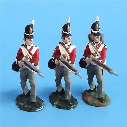 CORD-N0178 - British Infantry - Advancing (3 Pieces) - All the King's Men - 54mm