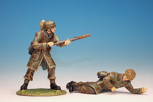 WGFI.3 - 1 Wounded and 1 Fighting Fallshirmjeager