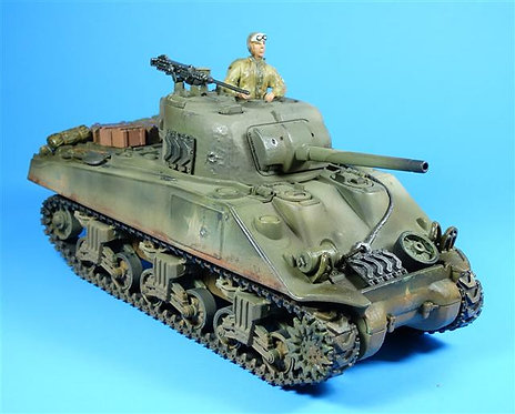FOV009 - Sherman Tank - Includes Removable Plastic Figure