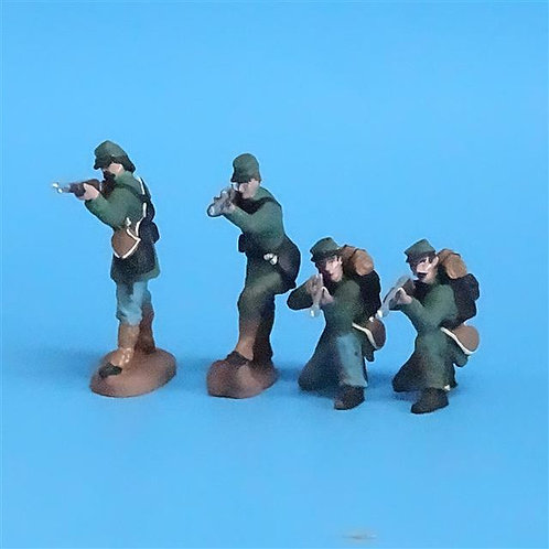 CORD-059 Berdan's Sharpshooters Firing (4 Figures) - Manufacturer Unknown - 54mm