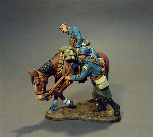 GWF-36 - Wounded Trooper  15th Dragoon Regiment  French Cavalry 1917-1918