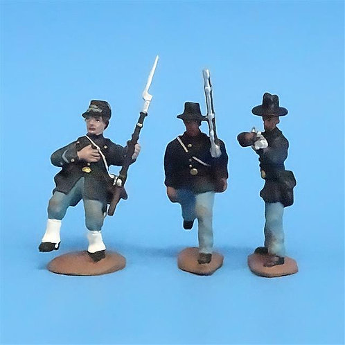 CORD-178 - Iron Brigade (3 Figures) - ACW - CM and Unknown- 54mm Metal - No Box