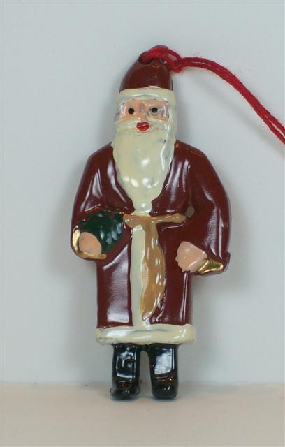 C984 - Antique Santa Ornament - 1 piece