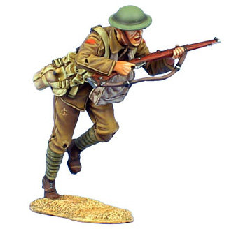 GW027 - British Infantry Charging with SMLE Mk. III - 11th Royal Fusiliers