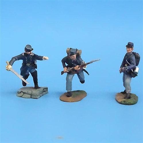 CORD-006 Union Infantry Advancing (3 Figures) ACW - Conte - 54mm Metal - No Box