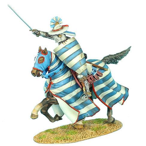 CRU051 - Mounted Crusader Lusignan Knight Charging