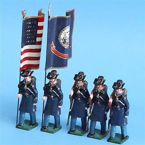 COWF-0145 - 6th Wisconsin Volunteer Inf Regt (Edition B, Iron Brigade, 2 Flags)