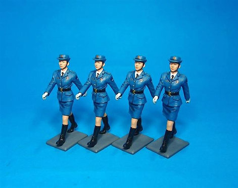 PLA-03N - PLA Air Force, Female Cadet Marching - 4 Figures