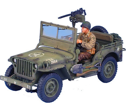 NOR050 - US Willys Jeep with Driver - E Co, 22nd Inf, 4th Division