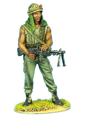 VN009 - US 25th Infantry Division Standing with M-60