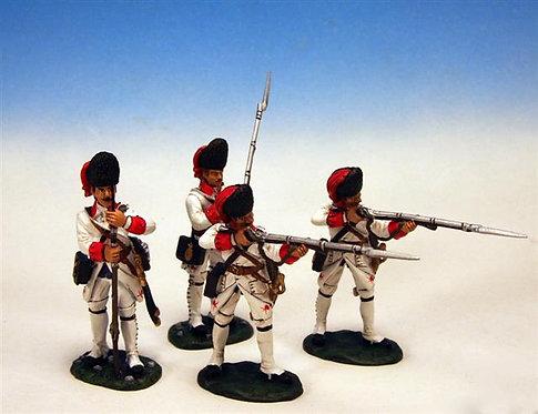 IFGW.1 - 2 Standing Firing, 2 Loading, Regiment De La Reine, Grenadier Company