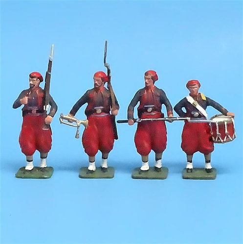 CORD-311 - Union Zouaves (4 Figures) - ACW - Imrie-Risley - 54mm Metal - No Box