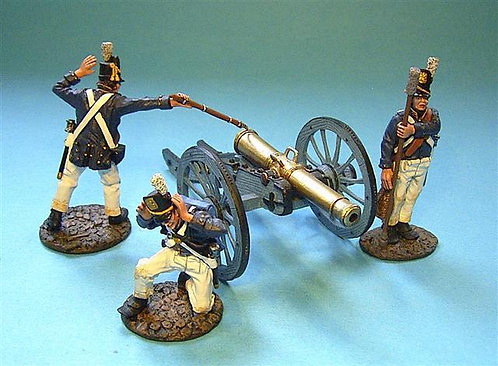 USCHART-03 - US Corps of Artillery 3 Crew Firing  (3pcs) (GUN NOT INCLUDED)