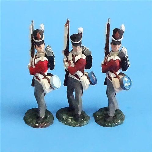 CORD-N0159 - British Infantry - Port Arms (3 Pieces) - All the King's Men  54mm