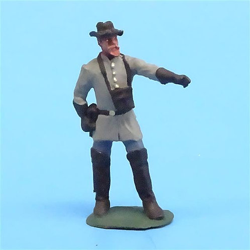 CORD-0828 Confederate Officer - ACW - Unknown Manufacturer - 54mm Metal - No Box