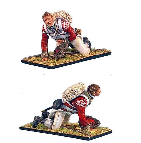 AWI036 - British 5th Foot Grenadier Crawling Wounded