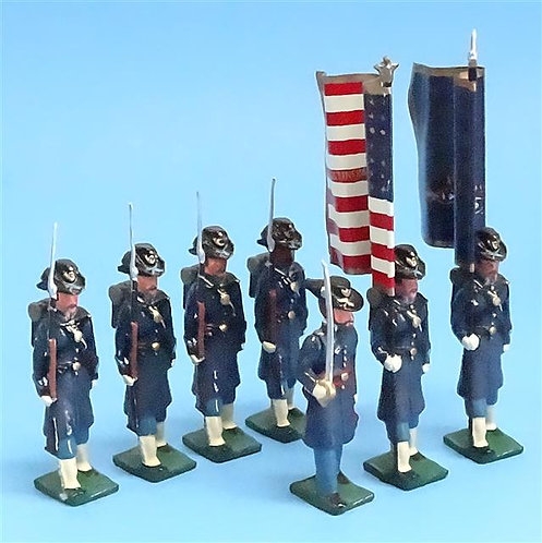 COWF-0009 - 19th Indiana Volunteer Infantry Regiment - Iron Brigade 2 Flags