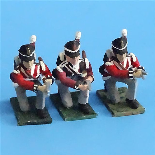 CORD-N0195 - British Infantry - Kneeling Loading (3 pcs) - Soldiers of the World