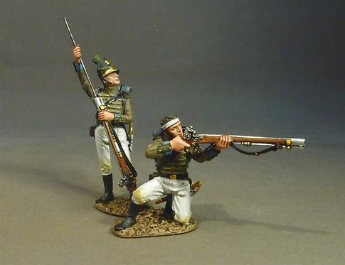 CAZ-01W - Portuguese 1st Cazadores, 1809 Loading and Firing #1, White Trousers
