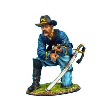 ACW034 - Union Dismounted Cavalry Trooper Kneeling Loading