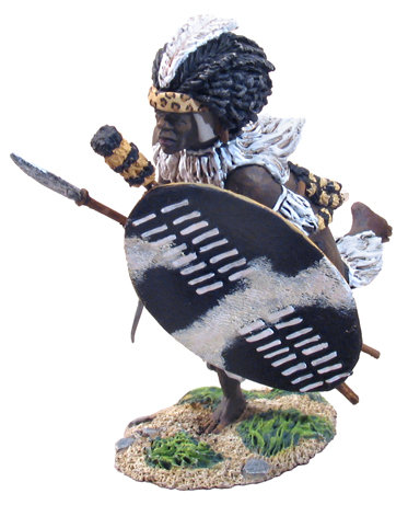 20052 - Zulu iNdluyengwe Regiment Charging with Assegai No.1