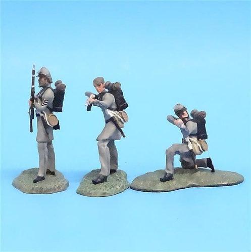 CORD-0921 Confederate Firing Line (3 Figures) - ACW - Forward March - 60mm Metal