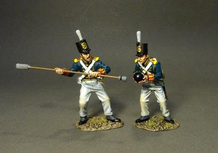 PBART-04W - British Foot Artillery Pre-1813, Art. Crew Loading, White Trousers