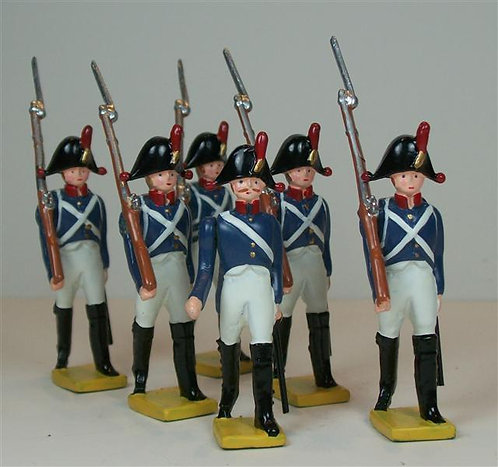 F211 - Napoleonic Velites Marching - 6 figures