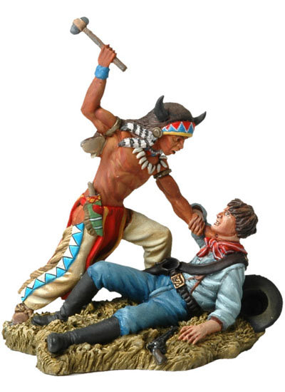 BH109 - Sioux Warrior Fighting with US Cavalryman