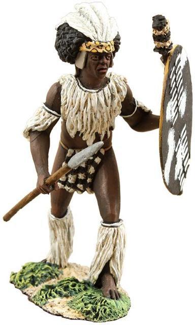 20113 - Zulu iNdluyengwe Attacking With Assegai No.1