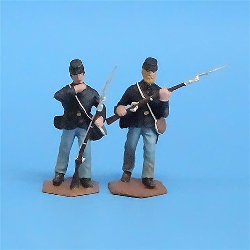 CORD-028 Union  Infantry (2 Figs)  - ACW - New Hope Design - 54mm Metal - No Box