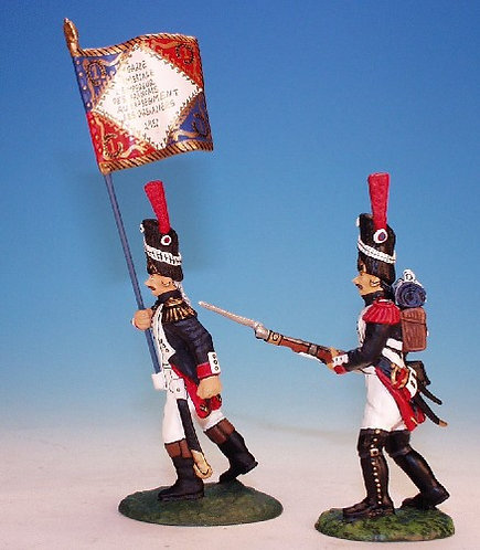 FOG.4 - Officer / Emperors Colour & 1 N.C.O., Old Guard