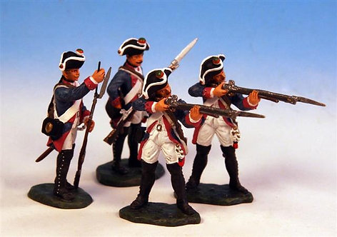 PUS.1 - 2 Standing Firing, 2 Loading, Musketeer Company