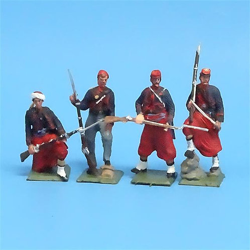 CORD-316 - Union Zouaves (4 Figures) - ACW - Unknown Manufacturer - 54mm Metal
