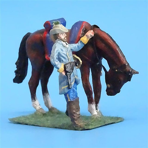 CORD-1069 - Dismounted Confederate Officer - ACW - Unknown Manufacturer - 54mm