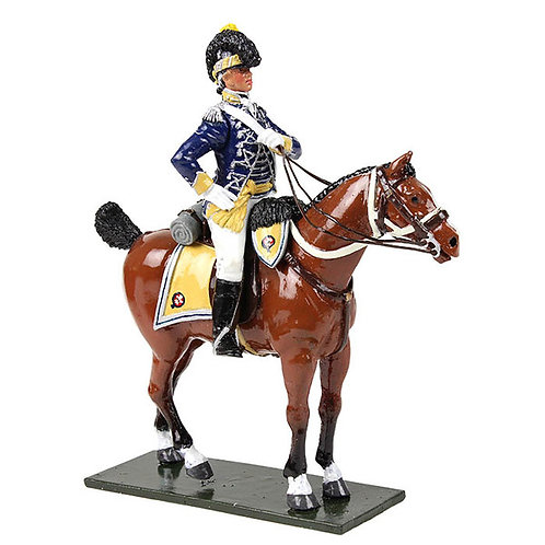 47060 - British 10th Light Dragoons Officer Mounted, 1795