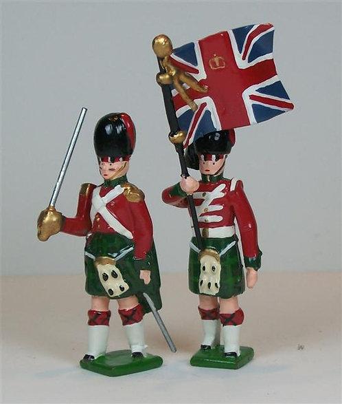 B420D - British 42nd Highland Regiment - Color Party - 2 pieces