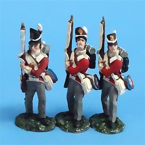 CORD-N0134 - British Infantry - Port Arms (3 Pieces) - All the King's Men  54mm