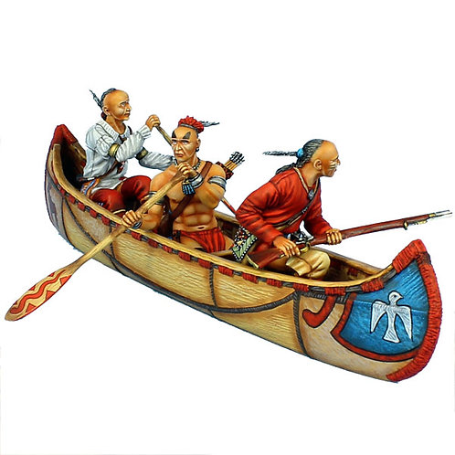 AWI099 - Woodland Indian Canoe Set