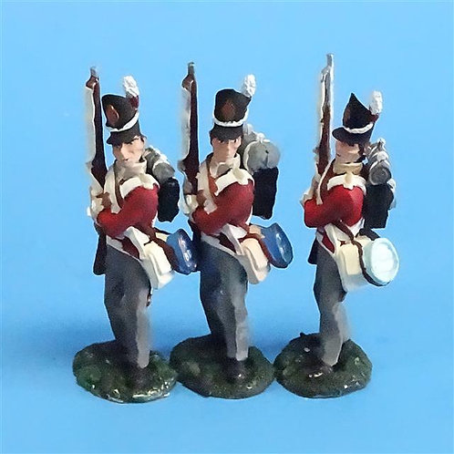 CORD-N0155 - British Infantry - Port Arms (3 Pieces) - All the King's Men  54mm