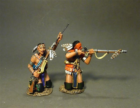 CAN-04B - Two Woodland Indians Kneeling, Loading and Firing B