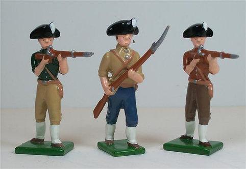 A253 - American Revolutionary Irregulars - 3 pieces
