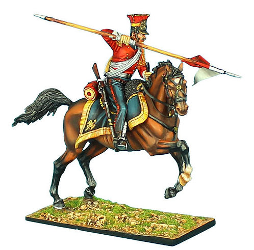 """NAP422 - 2nd Dutch """"Red"""" Lancers of the Imperial Guard Trooper with Lance #1"""