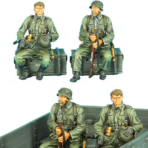 GERSTAL033 - Seated German Infantry Set 1