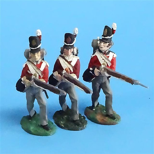 CORD-N0180 - British Infantry - Advancing (3 Pieces) - All the King's Men  54mm