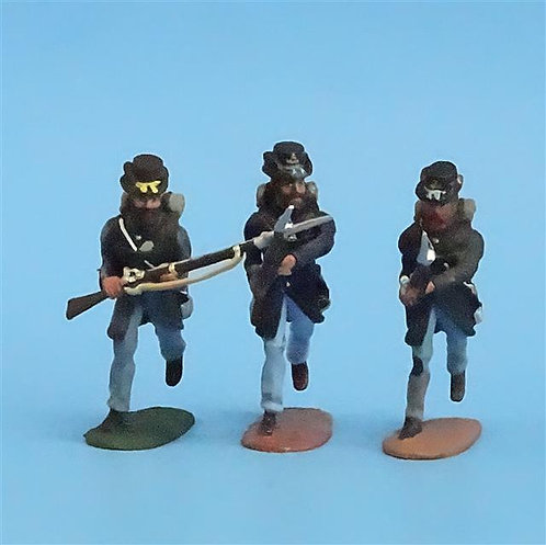 CORD-183 - Iron Brigade Advancing (3 Figures) -Manufacturer Unknown- 54mm Metal